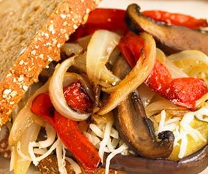 Pan Grilled Veggie and Cheese Sandwiches Recipe
