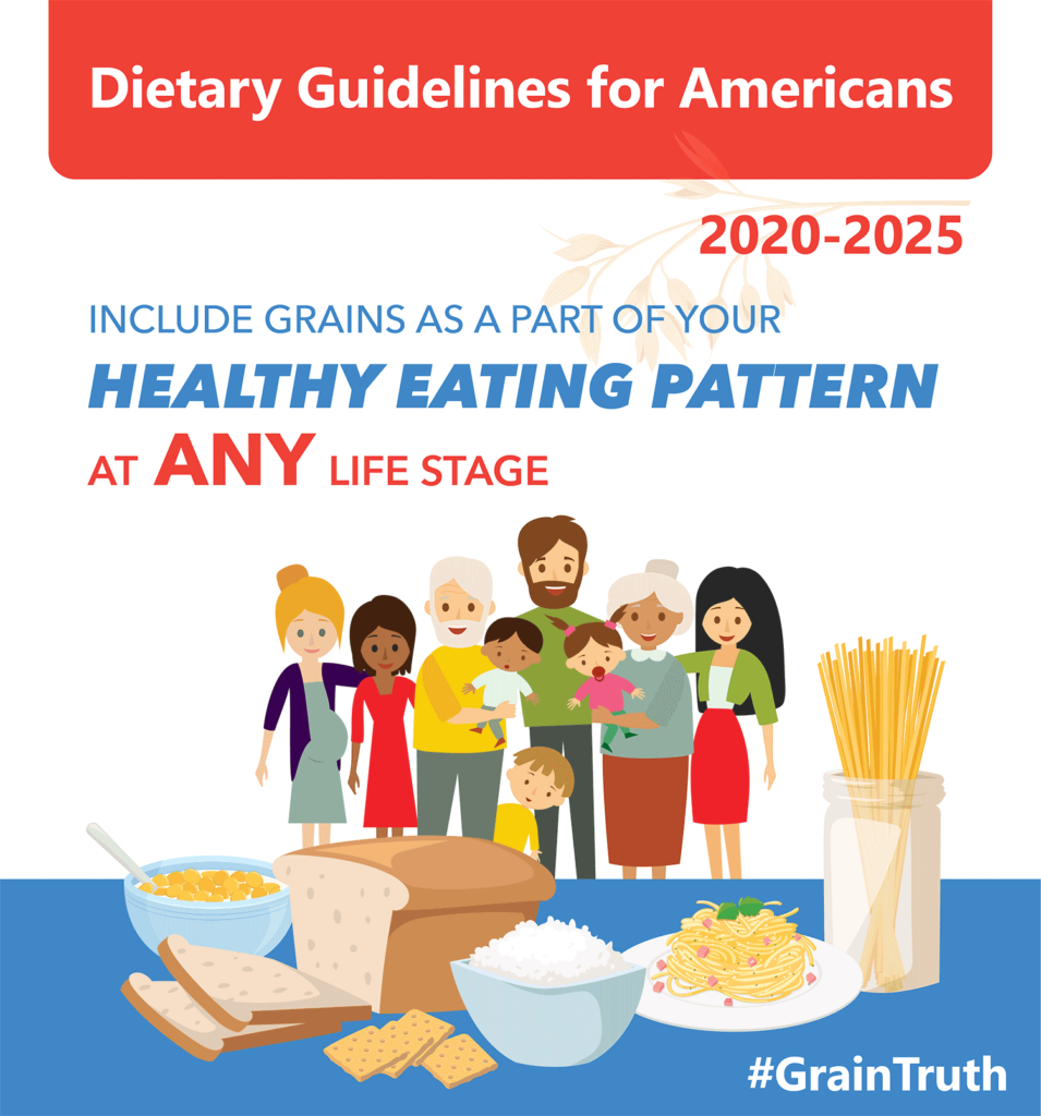 Dietary Guidelines for Americans Include grains as a part of your healthy eating pattern at any life stage! #graintruth